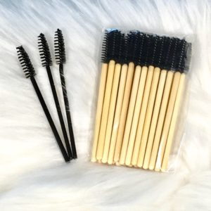 re-usable bamboo mascara wands